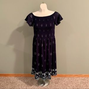 ❗️BOGO❗️🔺NWT Ricki's Navy Summer Print Dress